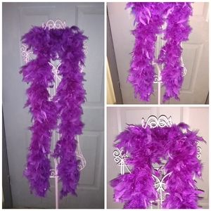 Sexy Purple Feather Boa 72 inches